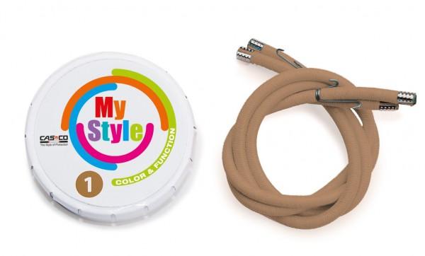 MyStyle Casco Streifen hellbraun Gr. 1