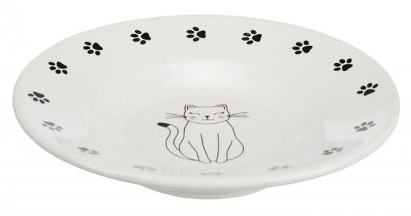 Trixie Keramiknapf Katze 0,2 l 15 cm, weiß