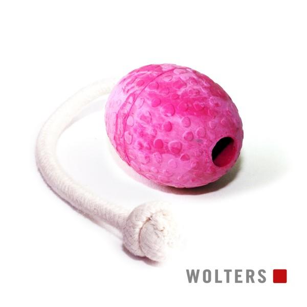 WOLTERS Straußen-Ei am Seil Gr.M 80x60mm himbeer