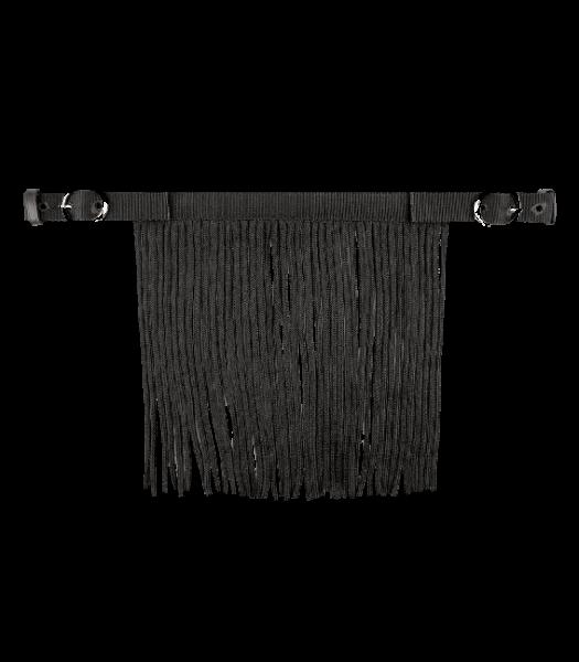 Fliegenfransen mit Schnalle, schwarz, WB