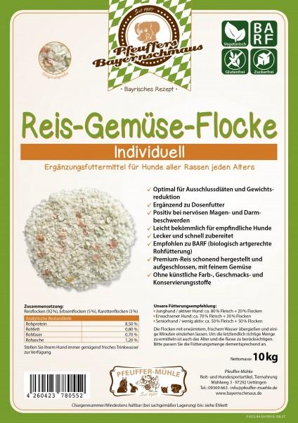 Pfeuffers Hundefutter Reis Gemüse Flocke 10kg
