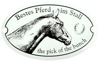 """Metallschild """"Bestes Pferd"""""""