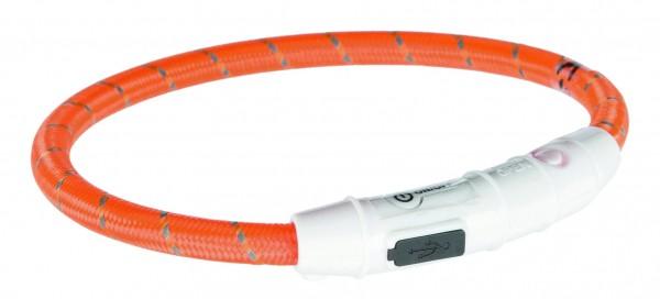 Flash Leuchtring USB, XS–S: 35 cm/ø 7 mm, orange