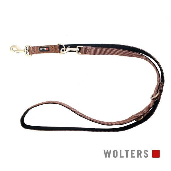 WOLTERS Leine Prof. Comf. 200cmx15mm tabac/schwarz