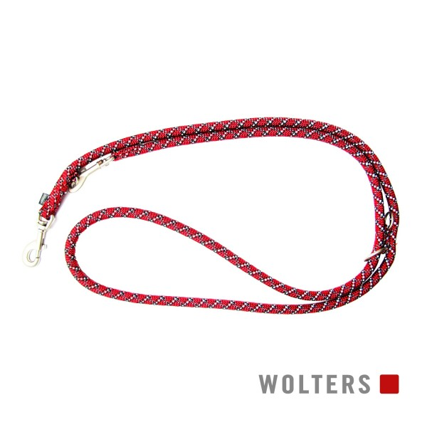 WOLTERS Leine Everest reflekt rot/schw 200x13