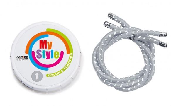 MyStyle Casco Streifen silber reflektor Gr. 1