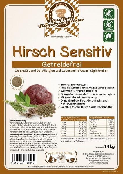 Pfeuffers Hundefutter Hirsch Sensitive 14kg