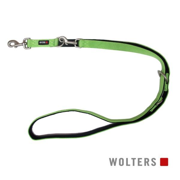WOLTERS Leine Prof. Comf. 200cmx20mm kiwi/schwarz