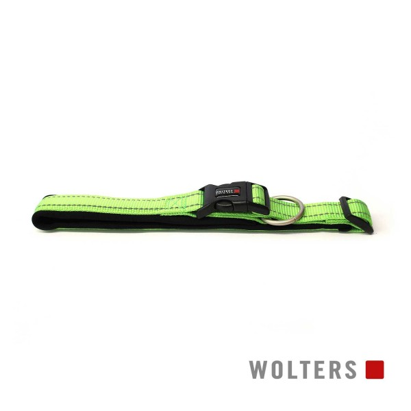 WOLTERS Halsband Soft&Safe reflek 35-40cm lime/sch