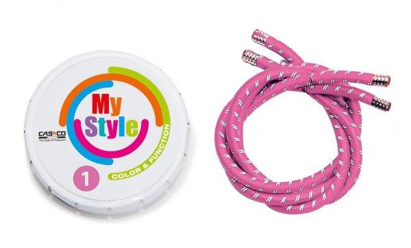 MyStyle Casco Streifen rosa reflektor Gr.0