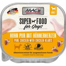 MAC´s Dog Schale Huhn pur mit Gefl.herzen 150g