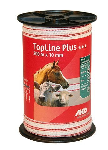 Topline Plus 200m 10mm TriCond rot/weiß