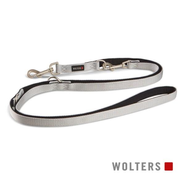 WOLTERS Leine Prof. Comf. 200cmx25mm silber/schwar
