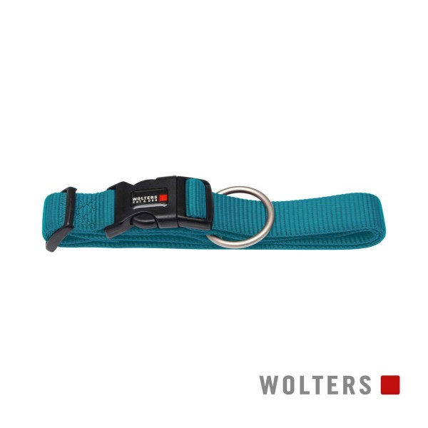 WOLTERS Halsband Prof extra breit L 40-55cm aqua