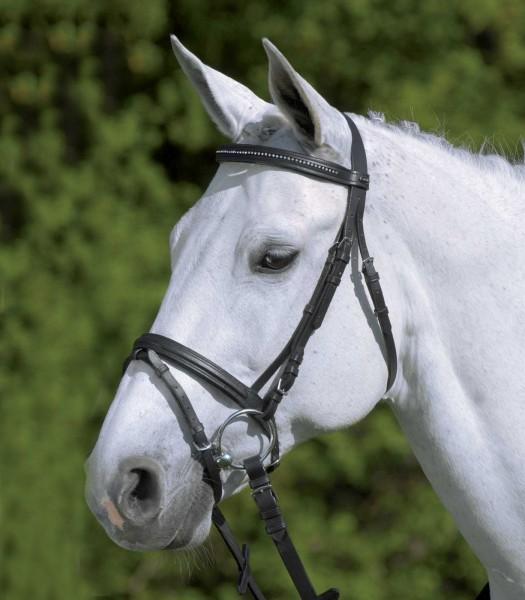 STAR Trensenzaum Diamond schwarz Pony