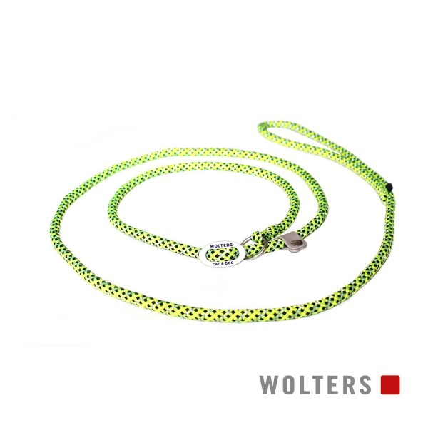 WOLTERS Moxonleine Everest reflekt gelb / sw 180x9