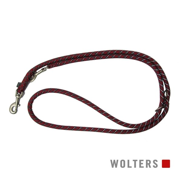 WOLTERS Leine Everest reflek. 300cmx13mm rot/schw