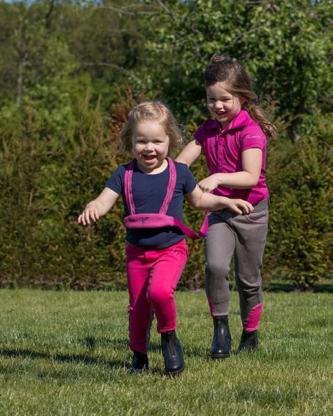 Pferdegeschirr für Kinder Pegasus Fuchsia