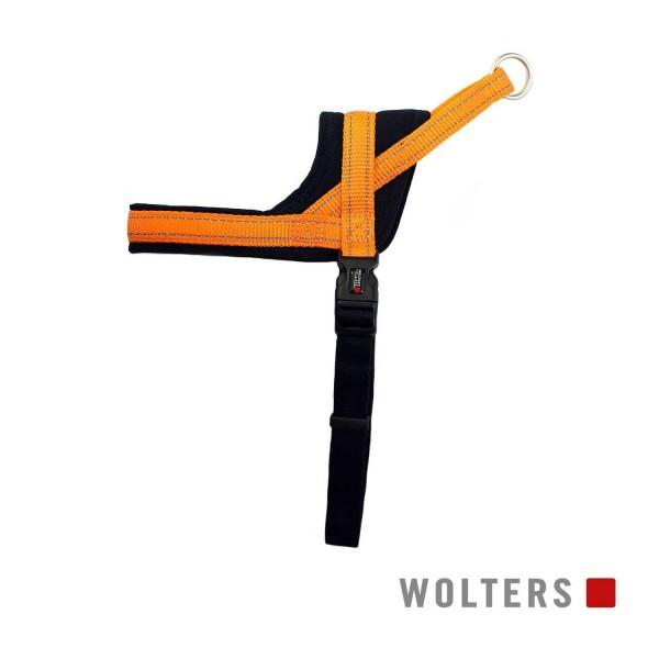 WOLTERS Geschirr Soft&Safe reflek 65-80cm oran/sch