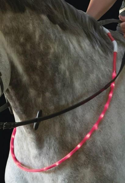 USG LED-Leuchthalsring für Pferde Pink