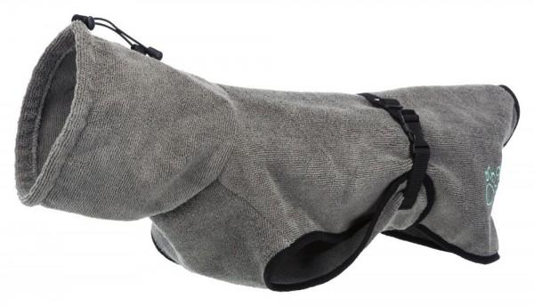 Bademantel für Hunde grau M 50cm