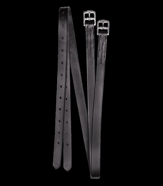 STEIGBÜGELRIEMEN, LEDER X-LINE, 25MM SCHWARZ 150CM