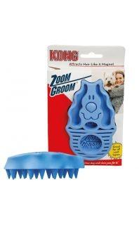 KONG ZOOM GROOM blue Hundestriegel