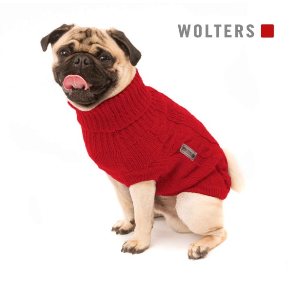 Wolters Zopf-Strickpullover 45cm rot