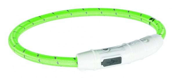 Flash Leuchtring USB, XS–S: 35 cm/ø 7 mm, grün