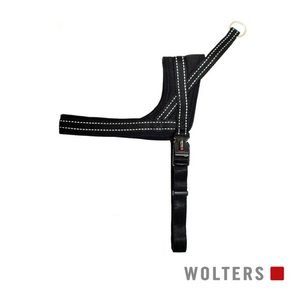 WOLTERS Geschirr Soft&Safe reflek 55-65cm schw/sch