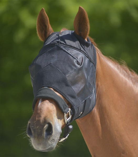 Fliegenmaske Premium ohne Ohrenschutz, sw, Pon