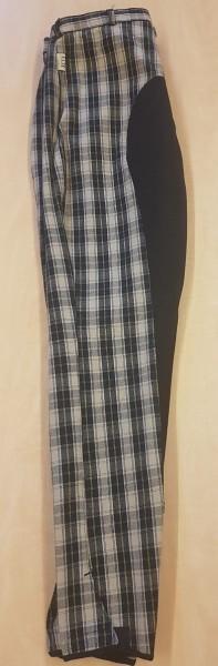 Reithose Lifestyle Breeches Check darkblu/Sand 152