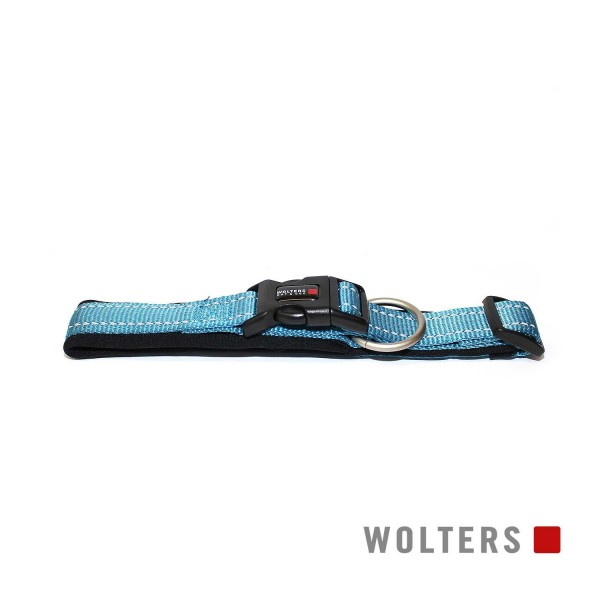 WOLTERS Halsband Soft&Safe reflek 60-65cm aqua/sch