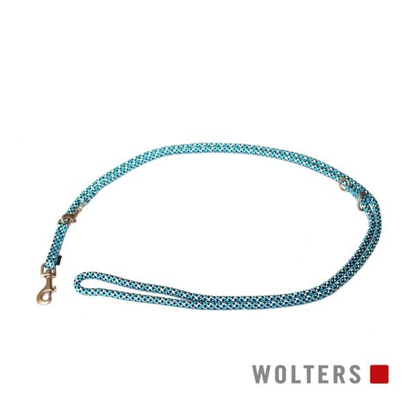 WOLTERS Leine Everest reflekt aqua/schw 200x9