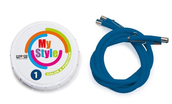 MyStyle Casco Streifen blau Gr. 1