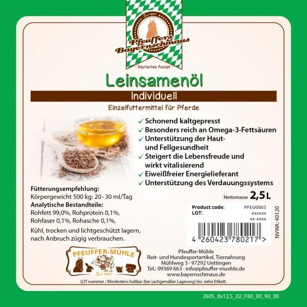 Pfeuffers Bayernschmaus Leinsamenöl 2,5 L