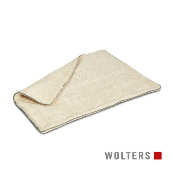 WOLTERS Green Line Kuscheldecke 100x70cm wollweiß