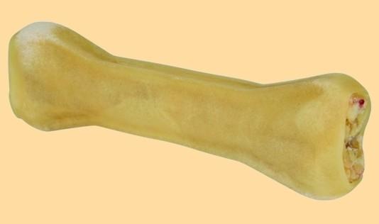 Kauknochen Rinderhaut gefüllt ca 17 cm