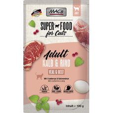 MAC´s Cat Pouch Pack Kalb, Rind & Cranberry 100g