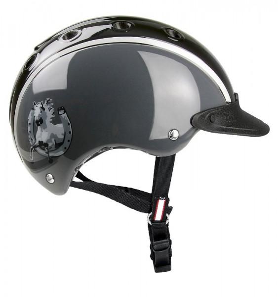 Casco Nori schwarz-grau Hufeisen Gr. XS 50-52cm