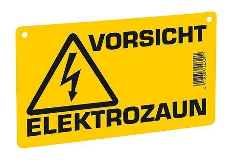 """Warnschild """"Vorsicht E-Zaun"""""""