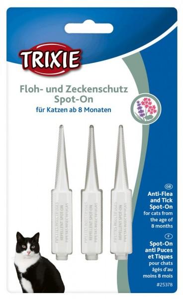 TRIXI Floh- und Zeckenschutz Spot On Katze 3 x 1ml