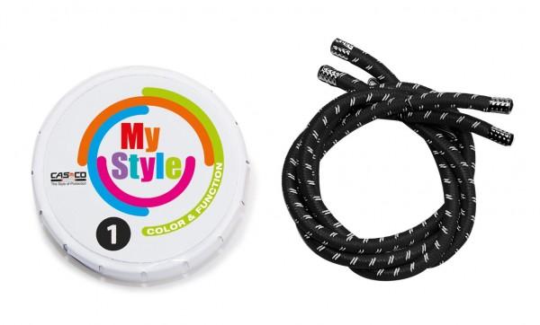 MyStyle Casco Streifen schwarz reflektor Gr. 1