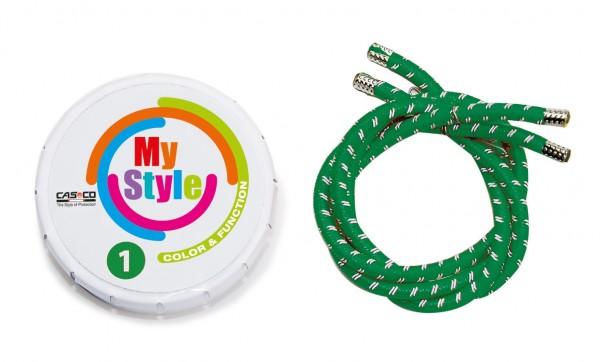 MyStyle Casco Streifen grün Reflektor Gr. 1