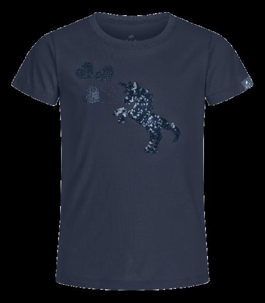 T-Shirt Lucky Flora Kids, nachtblau, Gr. 140