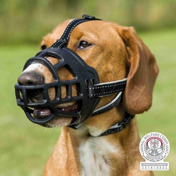 Muzzle Flex Maulkorb, Silikon, M-L, schwarz