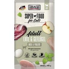 MAC´s Cat Pouch Pack Ente, Geflügel & Apfel 100g
