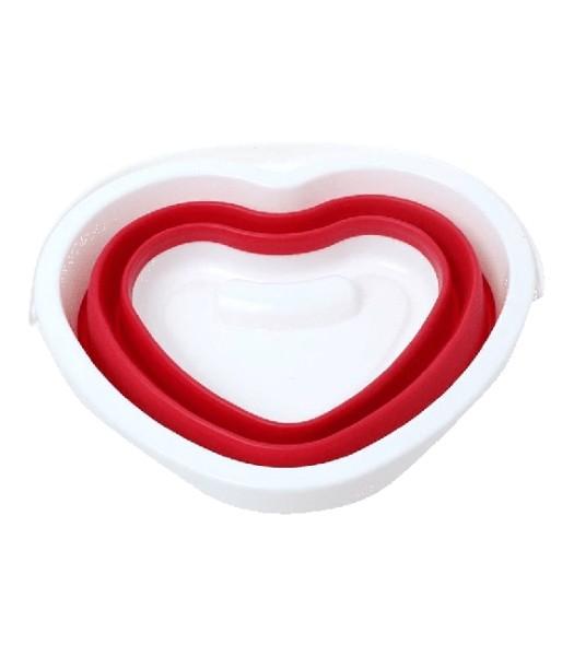 Faltbarer Eimer, Herzform, rot, 5L