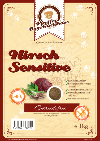 Pfeuffers Hundefutter Hirsch Sensitive 1kg