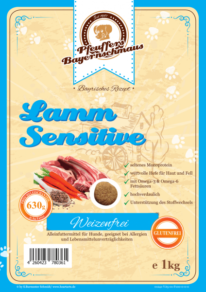 Pfeuffers Hundefutter Lamm Sensitive 1kg
